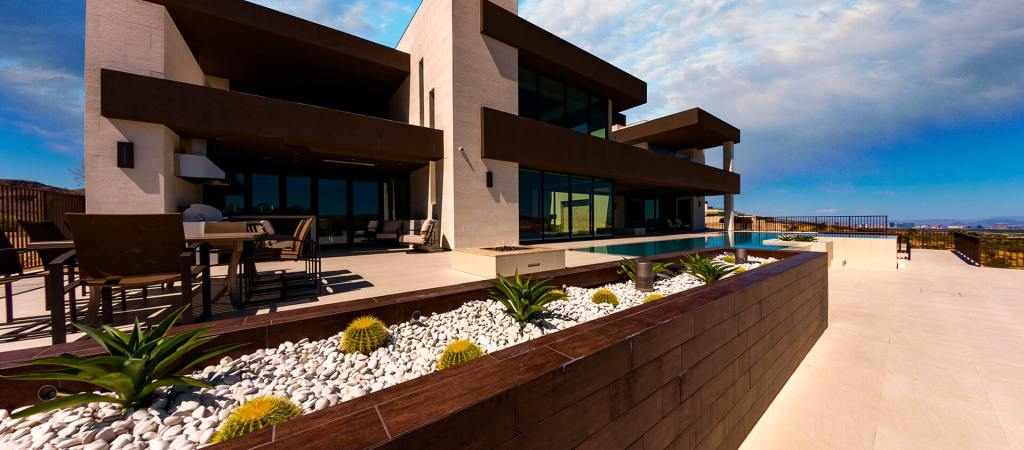Custom Built Perimeter-Overflow or Infinity Edge Swimming Pool Design by Clarity Pool Service of Las Vegas, Nevada