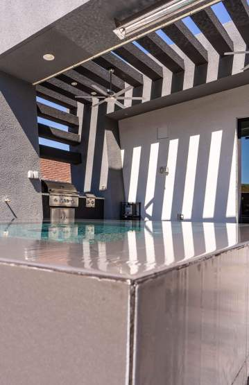 Close-up of Natural Stone Tile - Clarity Pool Service of Las Vegas, Nevada