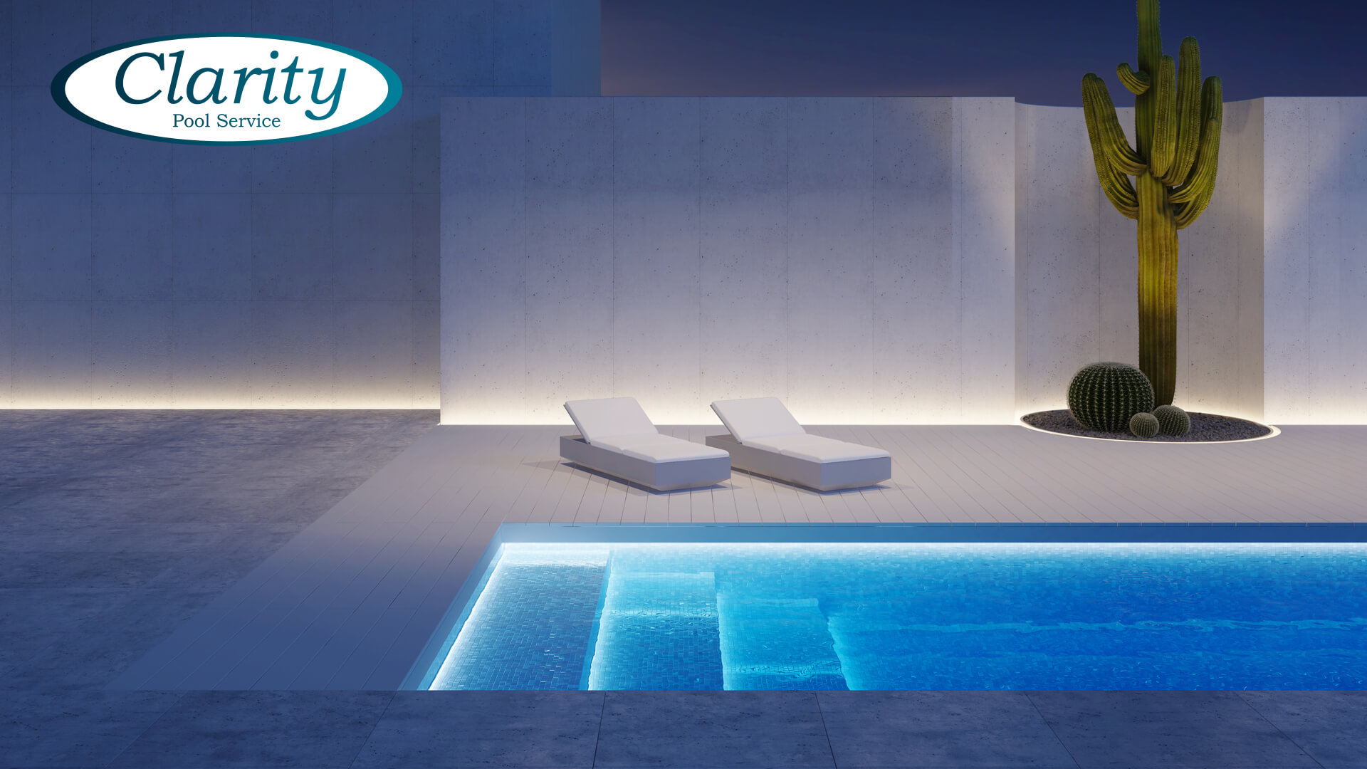 Custom Swimming Pool Lighting - Clarity Pool Service of Las vegas, Nevada