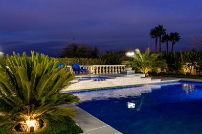 Dark Blue Pool Hue that matches the Dusk Sky - Clarity Pool Service Custom Swimming Pool Design & Construction