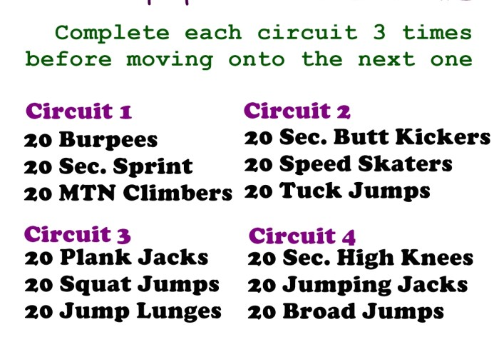 No Equipment Cardio Workout