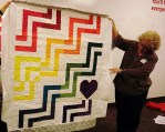 Another charity quilt quilted by Gina.