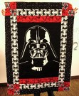 Darth Vader quilt, quilted with Death Stars!