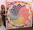 Kristen's epic rainbow gravity quilt.