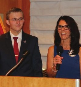 Rosalee presents RYLA candidate Lance Ladet to our club.