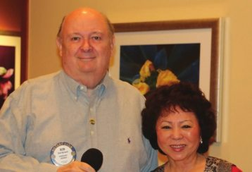 Colonel Bob Barnard introduced his wife Yoko who joined him for lunch on their Anniversary Day.