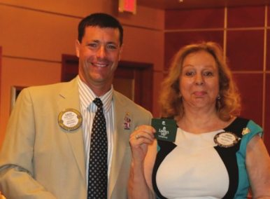 Judy Phebus wins the Lawry Bucks.