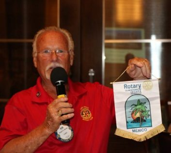 Bob Werner presented the club with a banner from a Mexican Club that he attended.