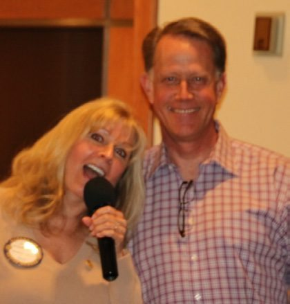 Jackie Thornhill explained where to meet for the Scotty Wetzel event at Nellis