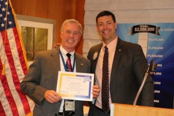 President Dave presented our speaker Brian Connett with our Sole Power Award