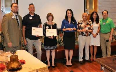 Paul Harris Fellowships were awarded to Rod Tucker, Toni Kern, Janet Lee, John Ingeme and Francesca Gilbert.