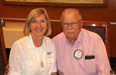 Pete Samuolis is joined for lunch with his wife Pam.
