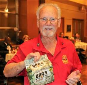 President Michael fined Bob Werner $95 for being awarded Bobs Butt Wipes.