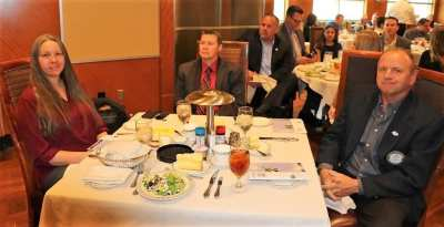 PE Jim Kohl's table hosted PP Jim Hunt, our speaker Dr. Liam Frink and his associate Dr. Sharon Young