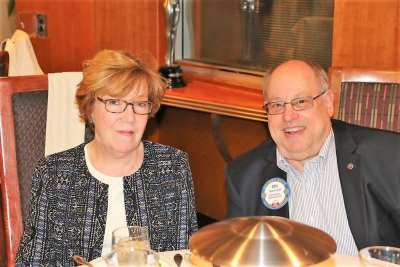 Stu Lipoff was joined for lunch by his wife Harriet.