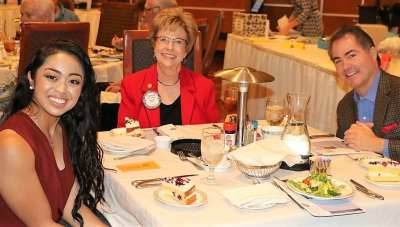 At Michael's head table was Michelle Quizon, Carolyn Sparks and UNLV President Dr. Len Jessup