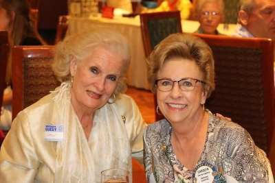 Carolyn Sparks was joined by her friend Gayle Anderson