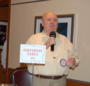 Bob Bernard defends the need for a second Birthday Table. HBD Bob!!!