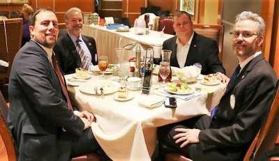 At Jim's head table were PP Michael Gordon, Kirk Alexander, DG John Chase.