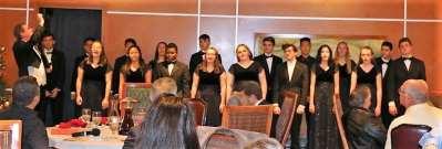Christmas songs were presented by the Palos Verdes Choir