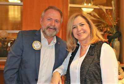 PP Randy Donald enjoyed the meeting with his wife Sally.