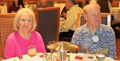 Our first lady President Caty Crockett and longtime member Gary Vause joined for fellowship.