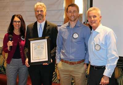 President Jim and Rosalee inducted a new member Jacob White who was sponsored by PP Tom Thomas.
