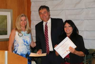 President Jackie presented our speakers from the Holley Driggs Law Firm with our share what you can award.