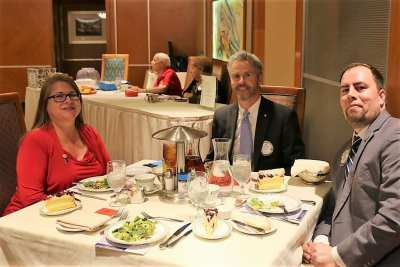 At President Jackie's head table were our speaker District Governor Luanne Arrendondo, PP Jim Kohl and PP Michael Gordon.