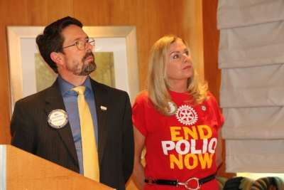 Bill Houghton and Jackie announced that October 24th is World Polio Day. Afghanistan and Pakistan are the only two countries left with cases.