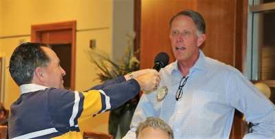 PP Steve Linder will not let Russ Swain have the mike….Russ was recognized for supporting our UNLV tailgate party.