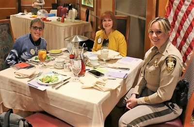 Seated at President Jackie's head table was Janet Linder, Arleen Sirois and our speaker and member of our club Lt. Kimberly Brodeur.
