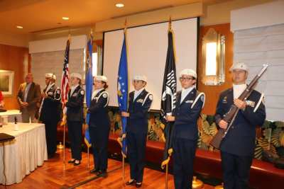 We were honored with the Palos Verdes High School ROTC Presenting the Colors.