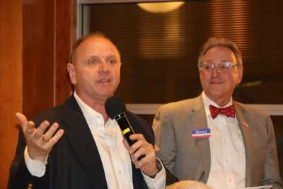 PP Jim Hunt introduced his brother John who is running for District Court Judge Department 18.