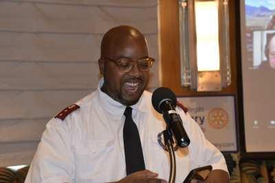 Capt. Barnes provides a heartfelt invocation