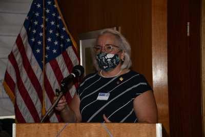 Guest speaker Janet Pancoast describes rotaplast opportunities.