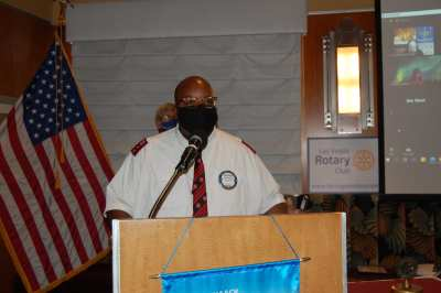 Capt. Barnes delivers an inspired and inspirational invocation.