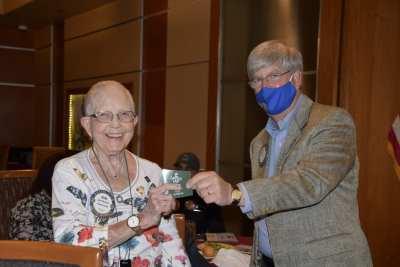 Joan Murdock wins the Lawrys bucks