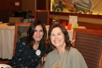 Gina Gentleman and Shawn Noorda enjoy fellowship time