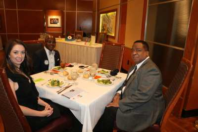 Guest speaker UNLV President Keith Whitfield with Kim Nyoni and guest Holly Sias