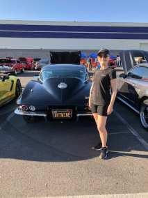 Michelle Calbi and her corvette!