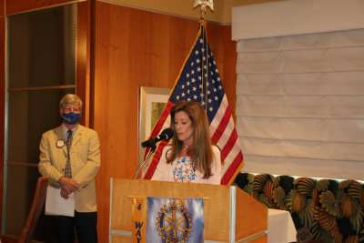 Niki Bates delivers the invocation