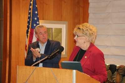 PE Mike Ballard and Mayor Goodman