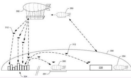 Amazon solicita patente para un almacén volador