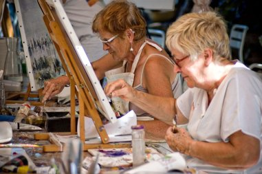 Stages de dessin et stages de peinture à l'huile. Ces stages de peiuntures sont encadrés par le peintre du Grand Sud Jean Guerrero et organisés chaque année à L'auberge la TABLE à RALLONGE en Camargue