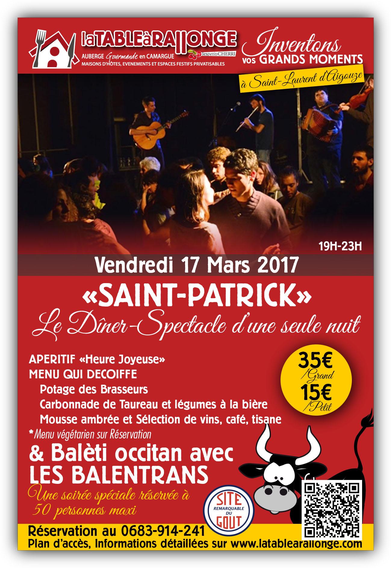 Saint-Patrick ern Camargue Balèti Occitan avec les BALENTRANS