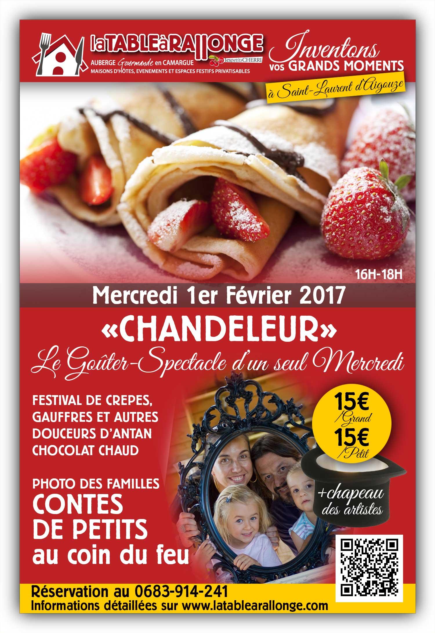Goûter spectacle Chandeleur en Camargue