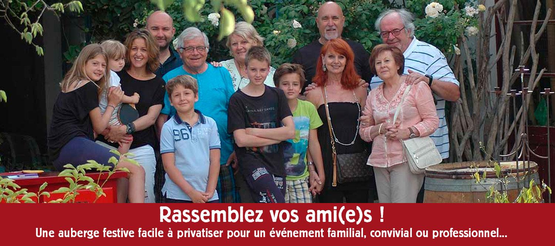 Réunions de familles, cousinades, anniversaires, mariages, enterrement de vie, séminaires en Camargue
