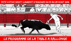 Programme de la fete votive 2016 de Saint laurent d'Aigouze en Camargue
