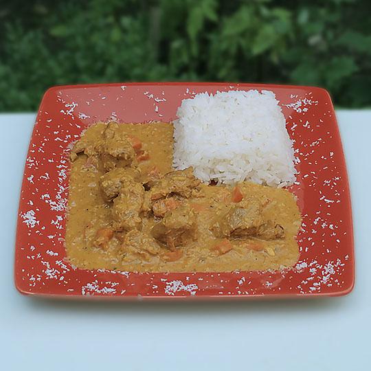 Curry d'agneau à l'africaine <br> (11 € par personne)